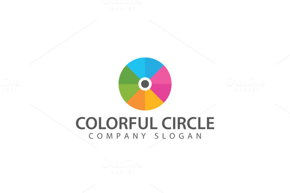 Abstract Disk Logo Template