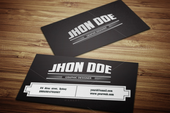 Retro Style Business Card Template
