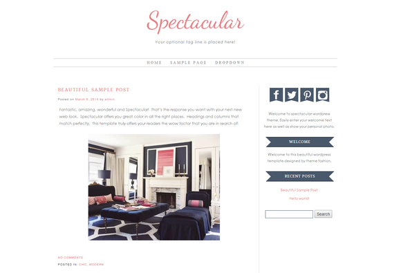 Wordpress Theme Spectacular