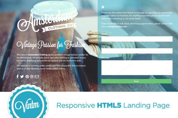 VINTM Responsive Landing Page
