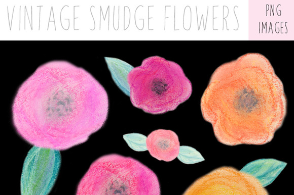 Vintage Flowers Spring Clip Art