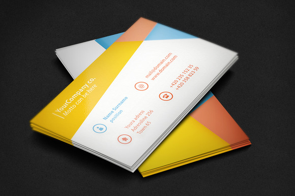 Shape Business Card Template