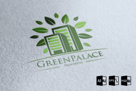Green Palace Logo Template