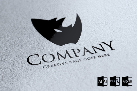Rhino Company Logo Template