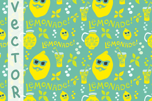 Lemonade Pattern Vector