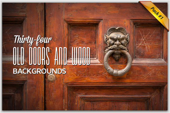 34 Doors And Wood Backgrounds Pack1
