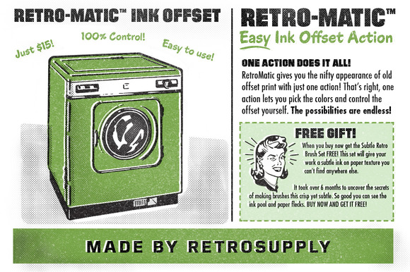 Retro-Matic Easy Ink Offset