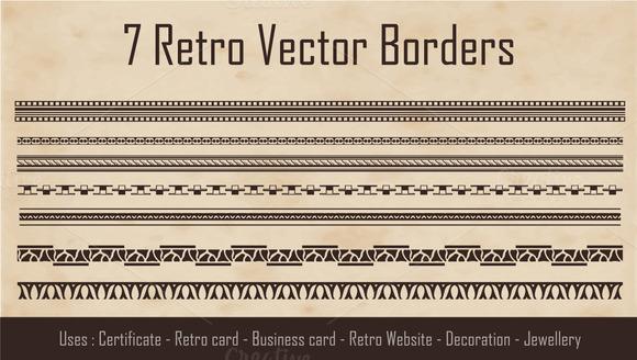 Retro Style Borders
