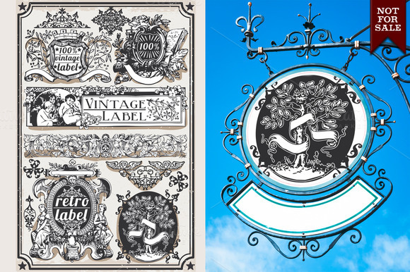 Hand Drawn Graphic Banners Labels