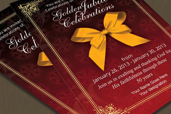 Golden Jubilee Invitation Card
