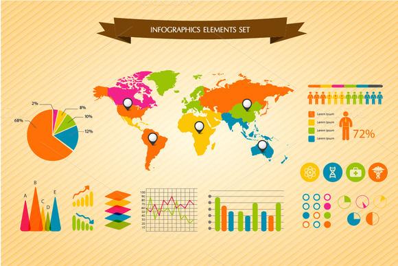 Vector Infographics Elements Set