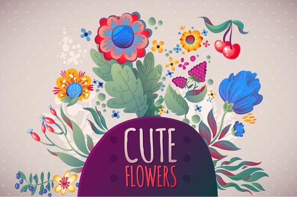 3 Cute Floral Cards Set