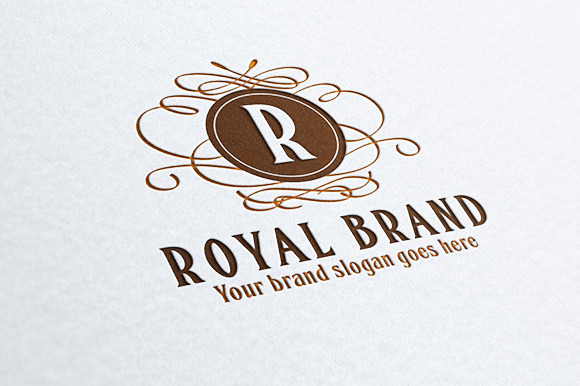 Royal Brand Letter Crest Logo