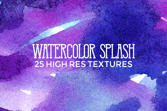 25 Watercolor Splash Textures