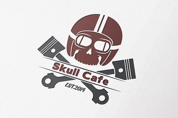 Skull Cafe Racer Logo
