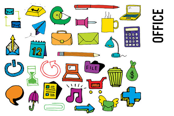Office Supplies Clip Art-Hi Res PNGs