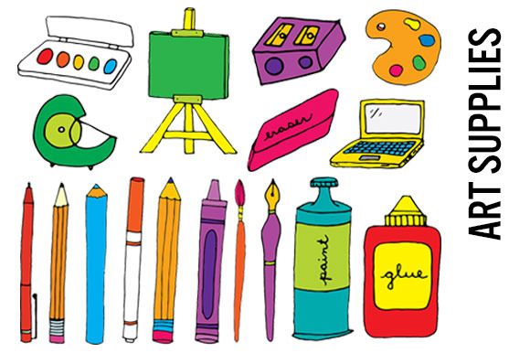 Art Supplies Clip Art Hi Res PNGs