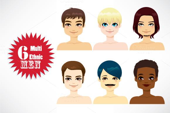 Multi-ethnic Handsome Men