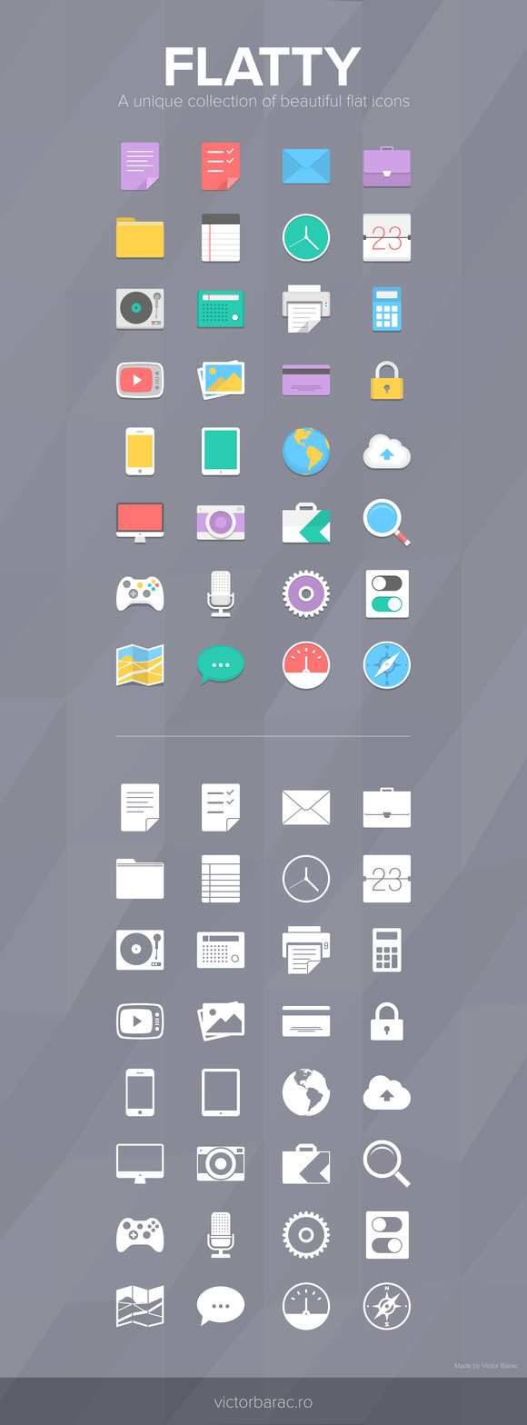 Flatty Icon Pack