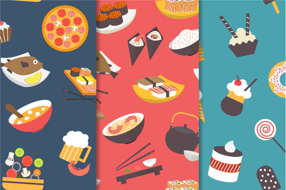 Food Theme Seamless Pattern