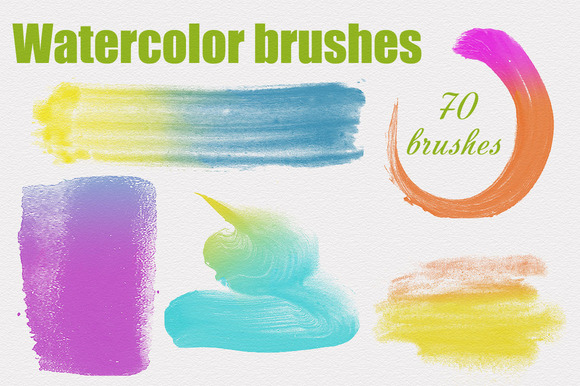 70 Watercolor PS Brushes