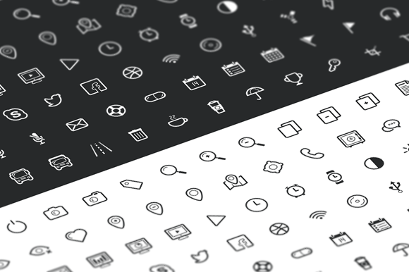Outline Icon Set 100