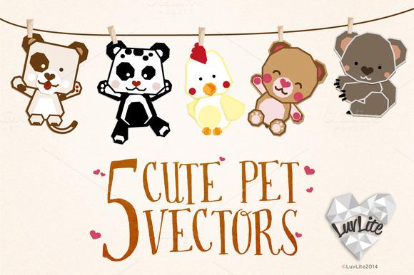 5 Cute Pet Vectors