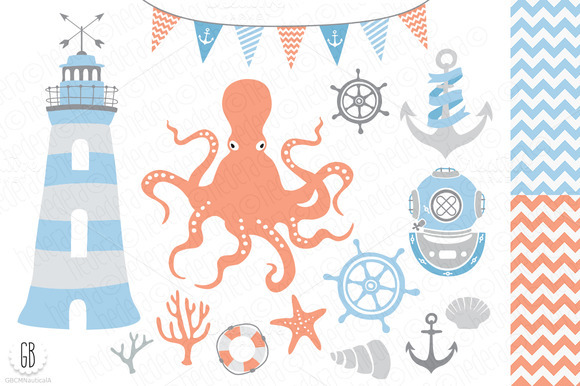 Nautical Vector Clip Art Lighthouse