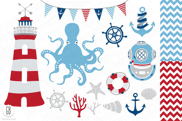 Nautical Vector Clip Art Anchor
