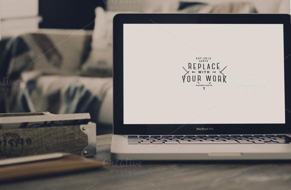 Hip MacBook Pro Mockup