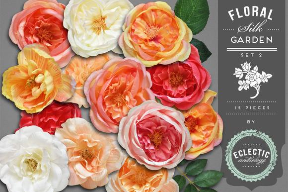 Cottage Garden Silk Flowers Graphics