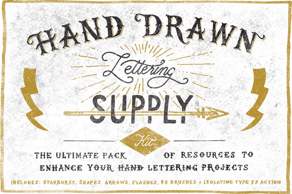 Hand Drawn Lettering Supply Kit