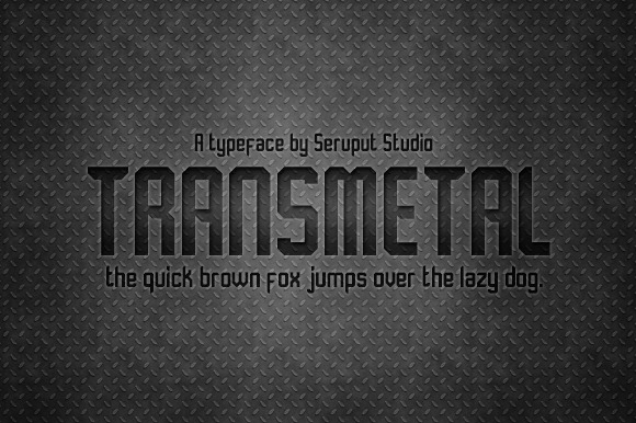 Transmetal Font