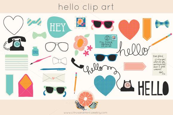 Hello Clip Art