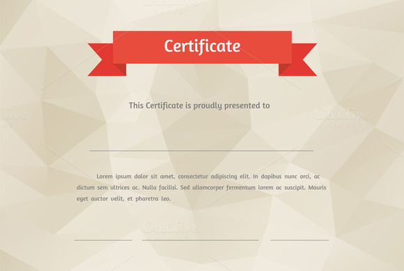 Vector Flat Style Certificate