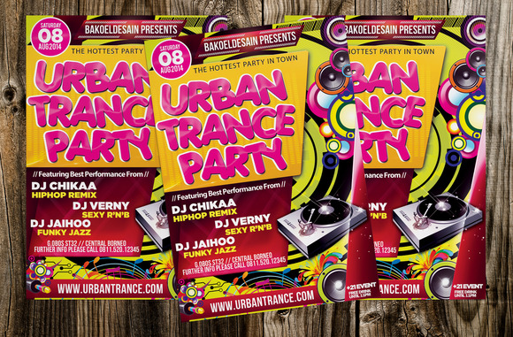 Urban Trance Party Flyer