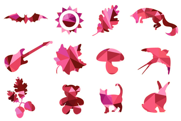 Nature And Animals Vector Shapes