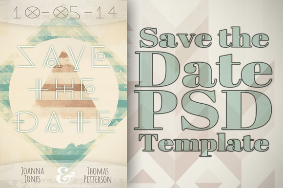Unique Save The Date Template