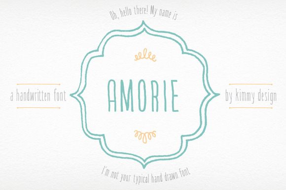 Amorie Whole Font Family 50% OFF