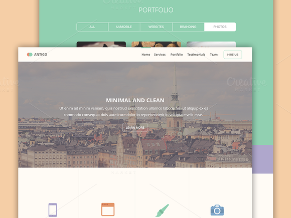 Antigo PSD Web Template