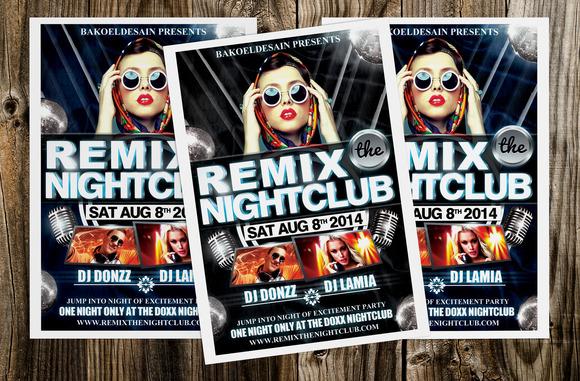 Remix The Nightclub Flyer
