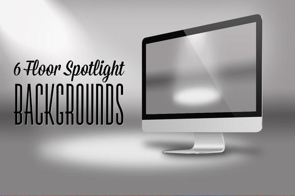 6 Floor Spotlight Backgrounds
