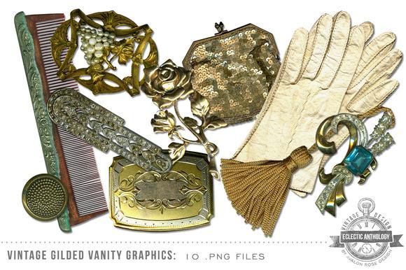 Vintage Gilded Vanity Graphics