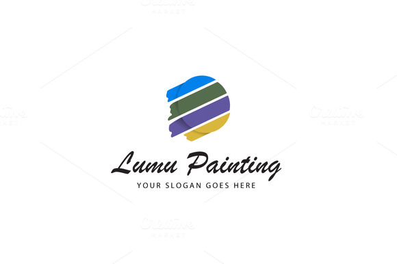 Colorful Painting Logo Template
