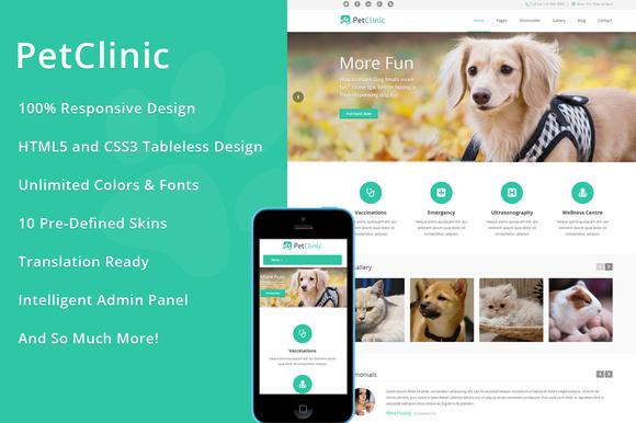 PetClinic WordPress Theme