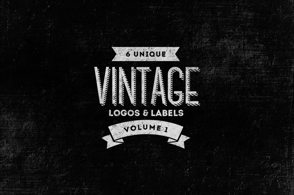 6 Vintage Logos Labels Templates