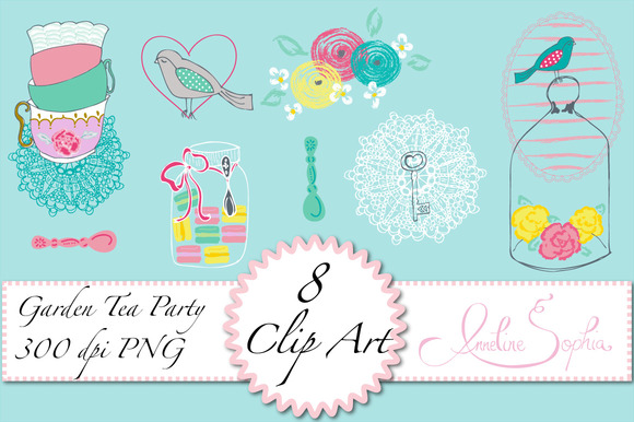 Garden Tea Party Clip Art
