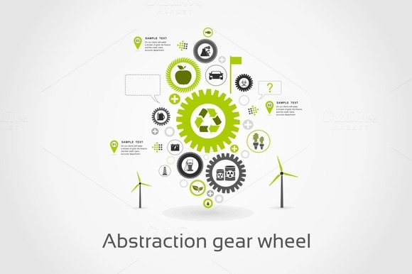 Abstraction Gear Wheel