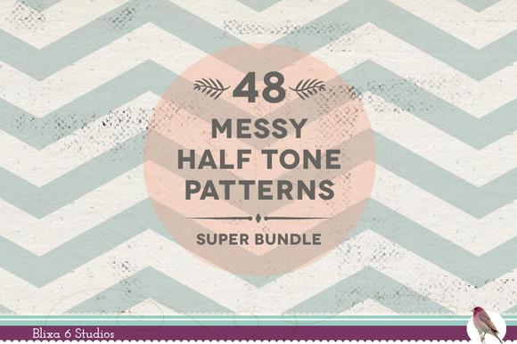 48 Messy Halftone Digital Patterns
