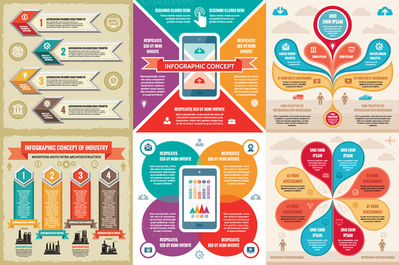 6 Infographic Business Concept